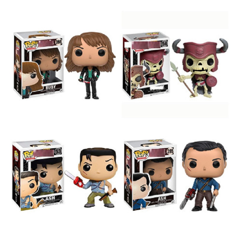 Funko Pop The Evil Dead Series Ash with Saw Vinyl Action Figure Toys Deadite Ruby Doll Collectible Model <font><b>Fans</b></font> Birthday Gift image