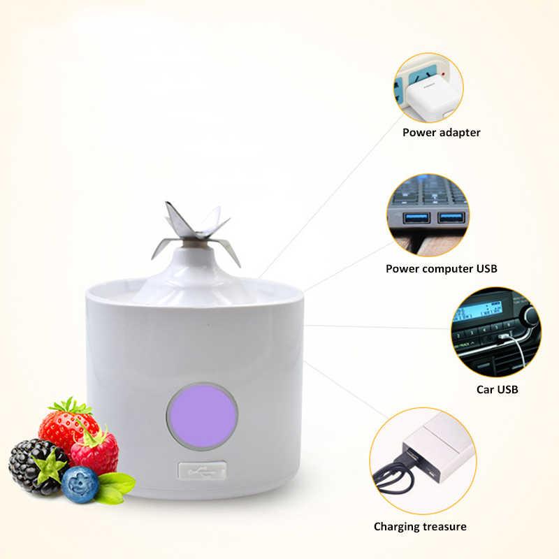 Mini Frasco De 600Ml de Suco de Frutas Elétrico Espremedor Liquidificador Handheld Portátil Recarregável USB Batido Vegetal Espremedor de Limão