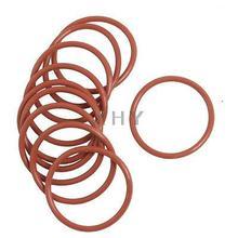 10 шт. гибкий резиновый уплотнительное кольцо шайба замена красный 29 мм x 2 мм