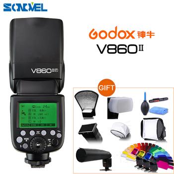 Godox Ving V860II V860II-O S C N F TTL HSS 1 8000 akumulator litowo-jonowy TTL Speedlite Flash dla Olympus Panasonic Sony canon Nikon tanie i dobre opinie CN (pochodzenie) 1000g 64 x 76 x 190 mm Lion Battery 5600K Xenon