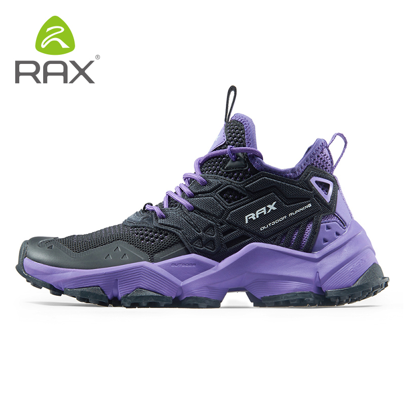 RAX Running Shoes Men&Women Outdoor Sport Shoes Breathable Lightweight Sneakers Air Mesh Upper Anti-slip Natural Rubber Outsole