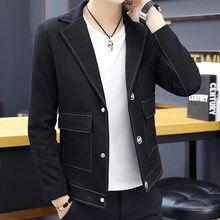 Новые мужские блейзеры куртка однобортное приталенное пальто