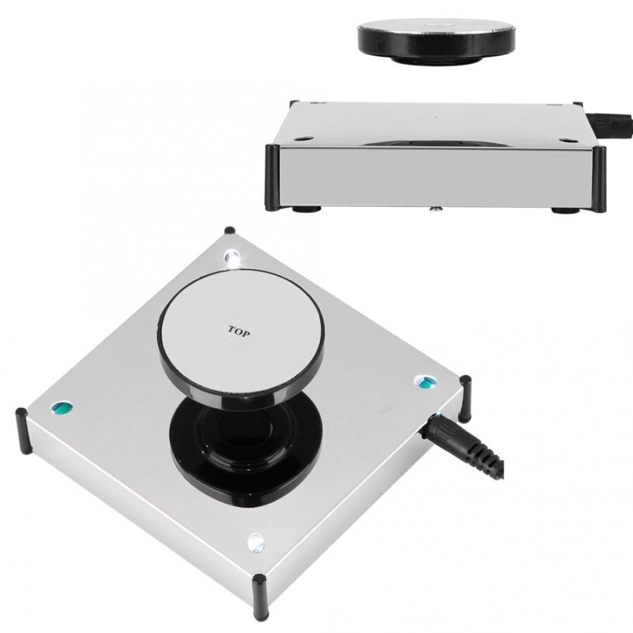 360 Rotating Magnetic Levitation Floating Show Shelf Display Platform with LED Holder Mount  Panel Display Teach Decoration