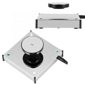 Image 1 - 360度回転する磁気ディスプレイベースフローティングショー棚プラットフォームledライトホルダーマウントパネルディスプレイベース棚ブラケット