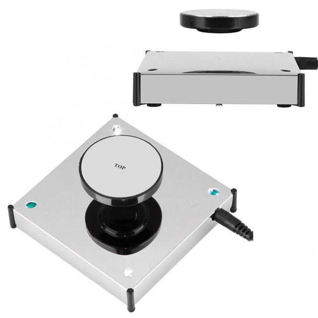 360度回転する磁気ディスプレイベースフローティングショー棚プラットフォームledライトホルダーマウントパネルディスプレイベース棚ブラケット