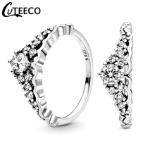CUTEECO 2019 New Princess Crown Wedding Ring for Women Luxurious Temperament Engagement Charm Jewelry Gift