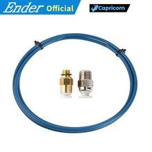 Capricorn bowden ptfe tubulação xs serie 1m + 1 pçs montagem rápida + 1 peça de montagem pneumática reta push 1.75mm filamento impressora 3d