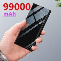 Cargador rápido de 99000mAh para teléfono móvil, cargador portátil con 3USB, batería externa para Samsung, Xiaomi y Iphone