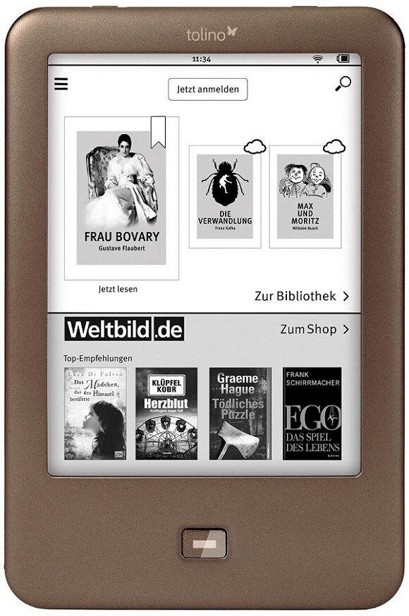 Tolino brilho 1 leitor de ebook wifi e ink ebook leitor 4 gb e-ink 6 polegadas tela de toque 1024x758 built-in livros claros ebook leitor
