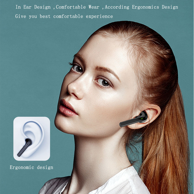 Bluetooth Headphones AWEI TWS T26 For Xiaomi redmi note8 pro Huawei iPhone11 2
