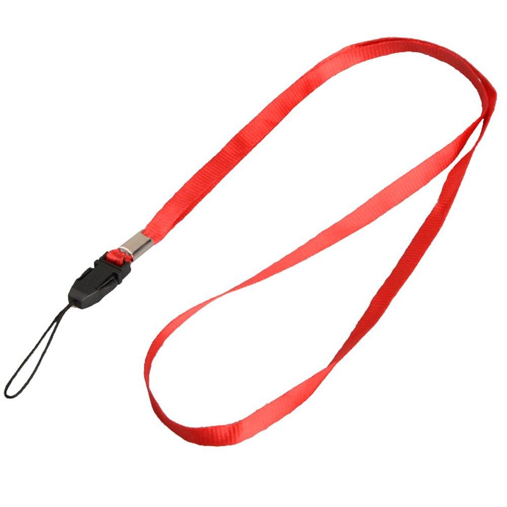 1 шт., ремешок для телефона на шею, для удостоверения личности, пропуска, значка, ключ для спортзала/держатель для мобильного телефона, USB, сделай сам, веревка, Лариат, ремешок - Цвет: Red