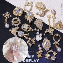 Jewelry Pendant Charm Zircon Nail-Art-Decorations Manicure-Design-Accessories Pearl Diamonds