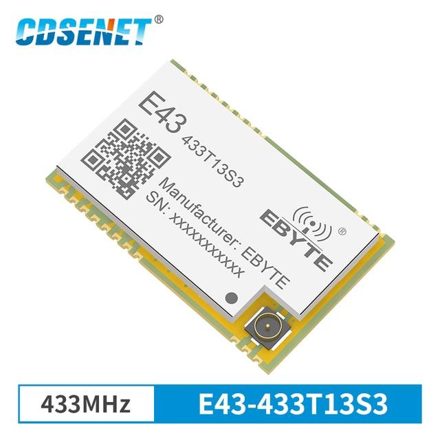 433/400 520mhz トランシーバ SMD モジュール 13dBm IPEX E43 433T13S3 GFSK RSSI UART 低消費電力 433 mhz RSSI トランスミッタレシーバ