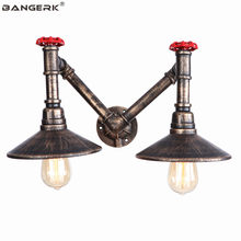 Industrial Valve Water Pipe Wall Lights LED Double Vintage Wall Lamp Bedside Loft Decor Edison Light Wall Sconce Home Lighting(China)
