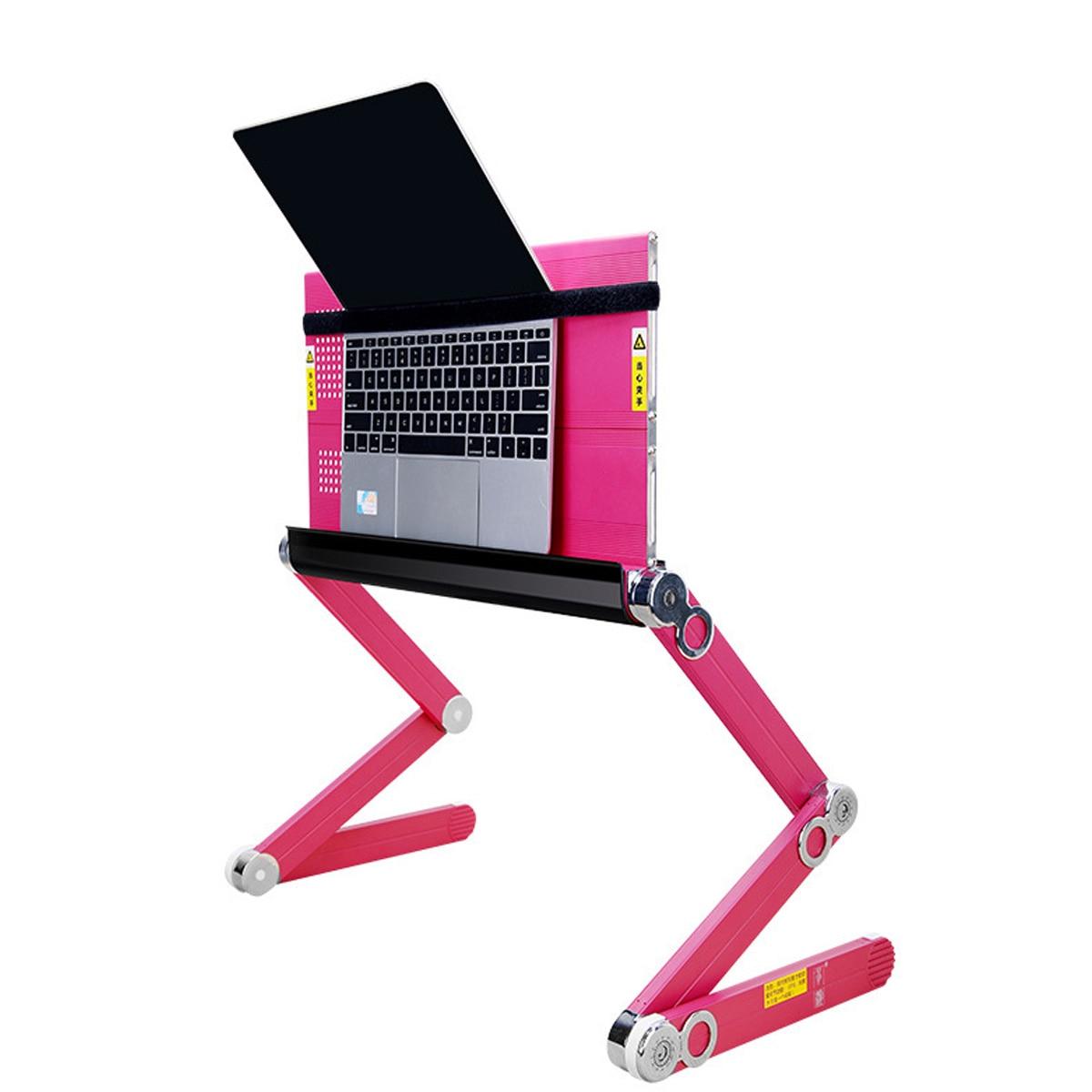 Ordinateur portable adapté avec ventilateur de refroidissement réglable 360 degrés pliant ordinateur portable bureau Table support plateau pour lit et canapé - 5
