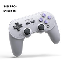 Console de gamepad 8bitdo sn30 pro +, console de gamepad sem fio com bluetooth para windows, android, macos e nintendo switch