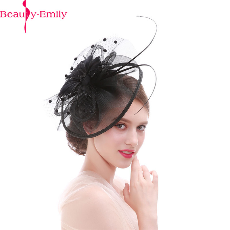 Beauty Emily Women Fashion Hat Hair Clip Fashion Cocktail Wedding Party Bridal Head Decoration Many Colors Available