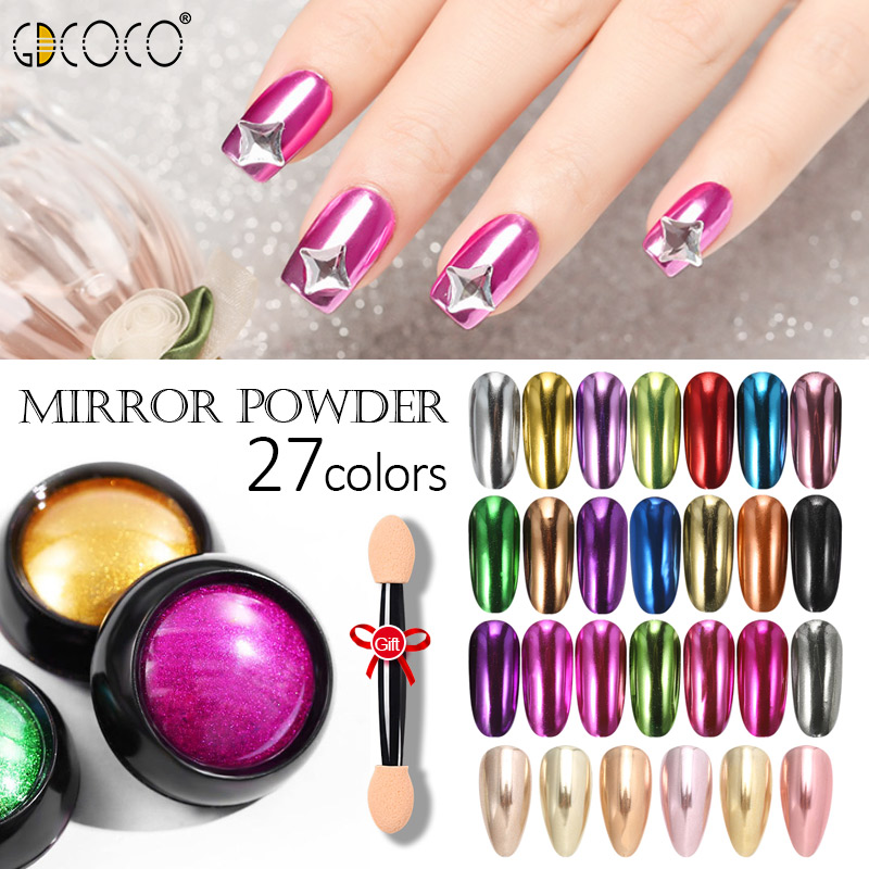 Nail Glitter Powder Mirror Chrome For UV LED Nail Gel Polish Ger Lacquer Mulit Holographic Effect Dust Decorations Manicure