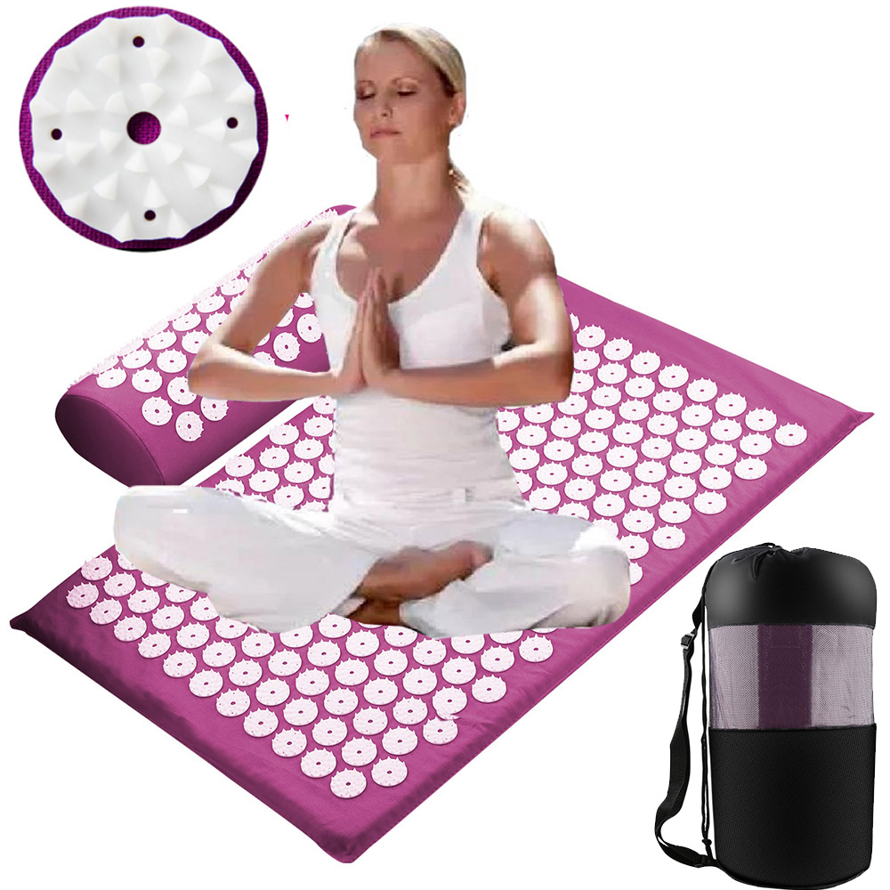 Massager Cushion Massage Yoga Mat Acupressure mat Relieve Stress Back Body Pain Spike Mat Massage Mat Fitness 1ef722433d607dd9d2b8b7: China|Poland|Russian Federation