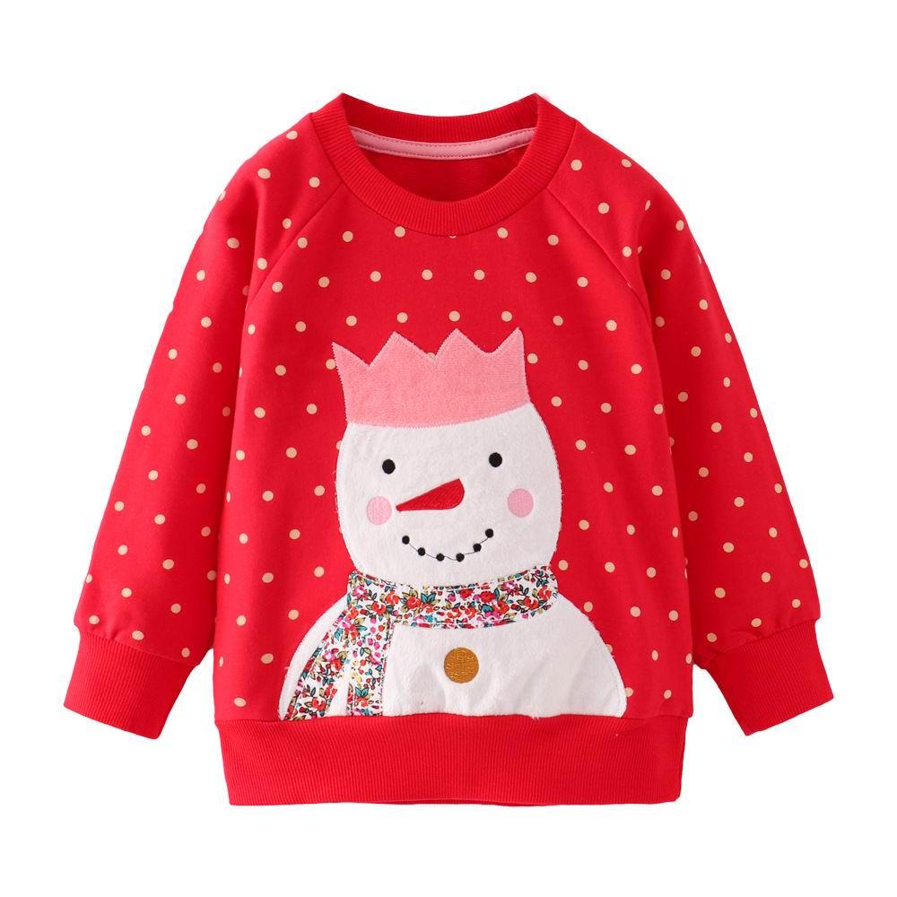 Little maven 2-7Years Autumn Rainbow embroidery Toddler Kids Baby Girl Sweatshirt Children's Little Clothing For Girl's Sweater 5