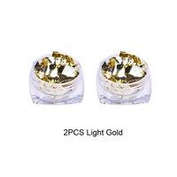 2pcs Light Gold
