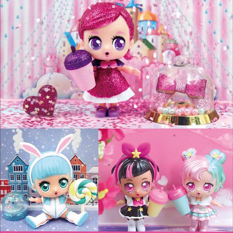 Adorável Eaki Chorar Boneca Surpresa Mágica Boneca Kawaii Rosa Figura Inovadora Meninas Brinquedos para As Crianças Bonecas Brinquedos Educativos