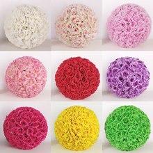 15cm 20cm 25cm 30cm 35cm 40cm yapay SSilk çiçek öpüşme topu DIY asılı çiçek topu ev partisi dekorasyon