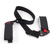 Adjustable Ski Strap Double Snowboard Sking Shoulder Hand Handle Straps Binding Protection Tie (Black)