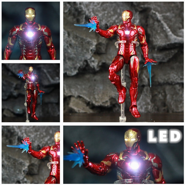 Avengers Civil War Iron Man Mark 43 Action Figure with Lights 6inch 1