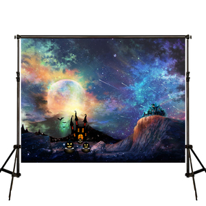Image 2 - קייט ליל כל הקדושים חלקה ירח טירה תפאורות צילום רקע רקע רקע צילום שמי הלילה ססגוני
