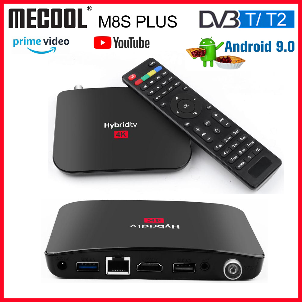 2020 Mecool M8S PLUS <font><b>T2</b></font> <font><b>Android</b></font> 9.0 <font><b>DVB</b></font>-<font><b>T2</b></font> Smart <font><b>TV</b></font> <font><b>Box</b></font> Amlogic S905X2 2GB16GB 2.4G WIFI YouTube Netflix Combo <font><b>Box</b></font> PVR Recording image