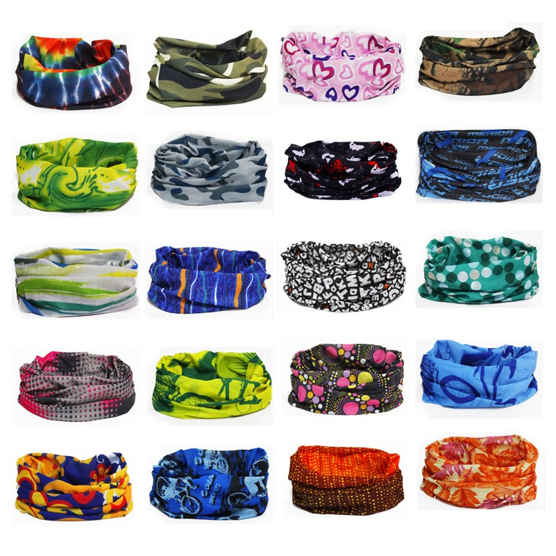 28 Styles Neck Tube Warmer Scarf Outdoor Sport Bicycle Cycling Riding Magic Headband Sports Scarves Cycle Bandana Headwear Ring