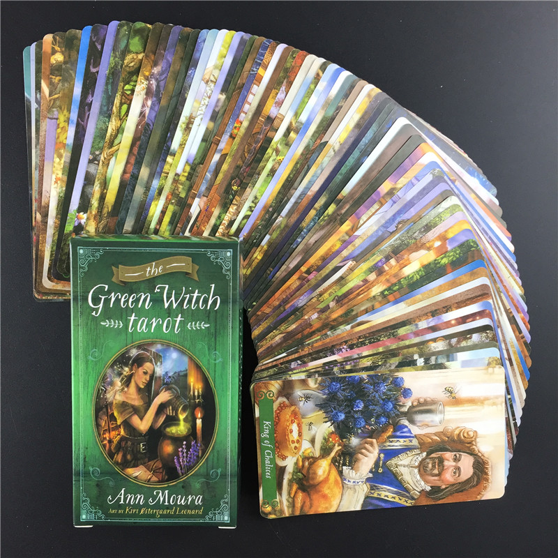 Full English The Green Witch Tarot Cards Guidance Divination Fate Oracle Deck Board Game Card For Family Party Games