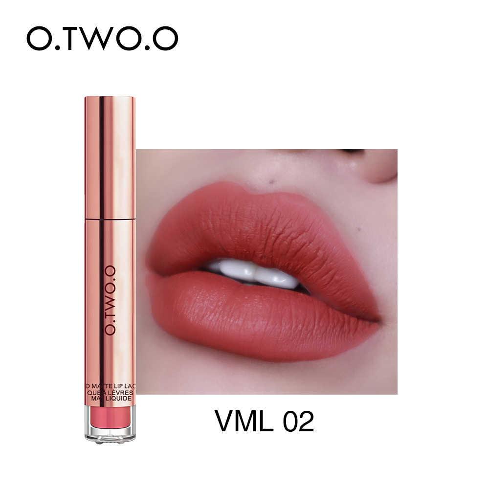 O.TWO.O 12 สีที่ดีที่สุดขายร้อนเครื่องสำอางค์แต่งหน้า Lip Gloss ยาวนานสวมใส่ง่าย Matte ลิปสติก