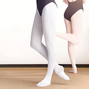 Image 2 - Donne di Ballo di Balletto Calzamaglie 80D 90D 800D Adulto Leggings di Velluto Ginnastica Danza Balletto Collant