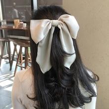 1 PcsFashion Women Hair Ropes Multicolor Big Bow Streamer Elastic Rubber Band Hair Band Girl Ponytail Elegant Hair Accessories