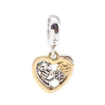 Abalorio Original de Plata de Ley 925, colgante de abeja versátil a la moda creativo, compatible con pulsera y collar Pandora para mujer, joyería Diy