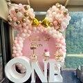122 шт., воздушный шар, гирлянда, арочный комплект, розовый, белый, золотой, латексные воздушные шары, подарки для девочек, детский душ, принадл...