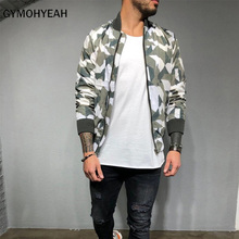 GYMOHYEAH New Camouflage jacket men / women harajuku windbreaker jackets hooded hip-hop streetwear zipper coats jacke jacke unq jacke