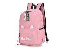 Милые Мультяшные кошачьи уши школьный рюкзак для девочек-подростков женский рюкзак, нейлоновый школьный рюкзак, сумка для подростков