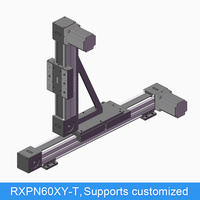 Synchronous belt type double guide linear sliding table module gantry multi axis XY heavy duty table high speed mute