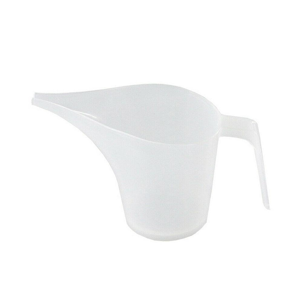 Tip Mouth Plastic Graduated Measuring Cup High Temperature Transparent Funnel Tools Baking Kitchen Resistance Cup A6P8