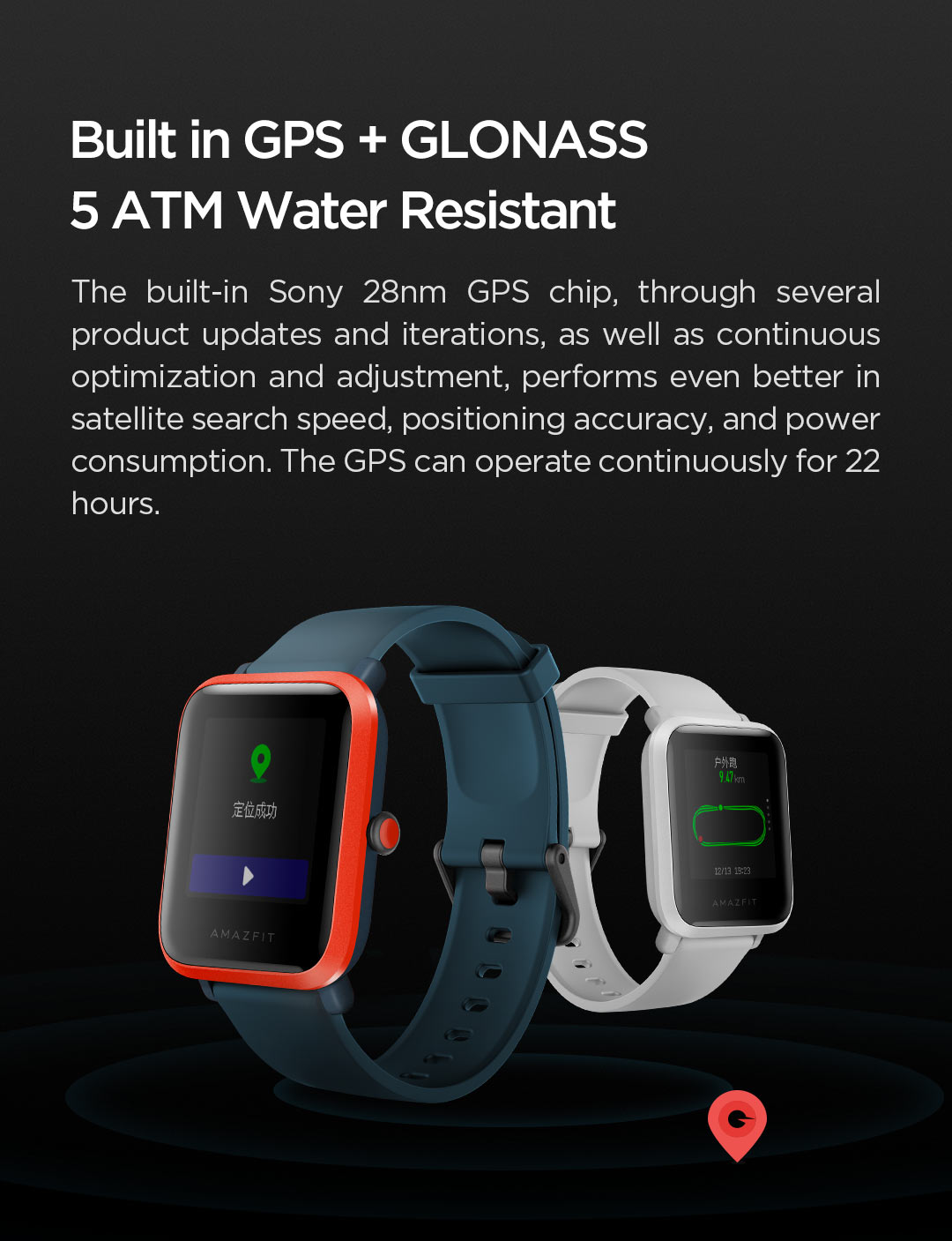 Hca83c8eb222844b2b2cff3f0dee2e21bU In Stock 2020 Global Amazfit Bip S Smartwatch 5ATM waterproof built in GPS GLONASS Smart Watch for Android iOS Phone