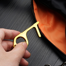 Rodzina zdrowie wygodny przenośny stop prasa winda narzędzie higiena ręka EDC mechanizm otwierania drzwi klamka klucz tanie tanio Brak HJU4722 Klamki 35-45mm Mosiądz