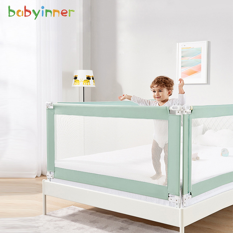 Baby Inner Baby Anti-out Bed Fence Infant Shatter-resistant Baffle-Vertical Height Adjustable Bed Universal Split Playpen Bed