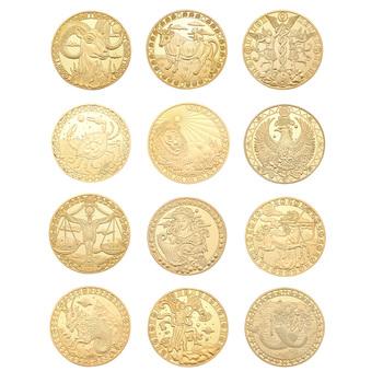 12 konstelacja fizyczna złota pamiątkowa monety kreatywna sztuka prezent kolekcjonerski na pamiątkową kolekcję sztuki dekoracji festiwalu tanie i dobre opinie CN (pochodzenie) Metal Nowoczesne 2000-Present