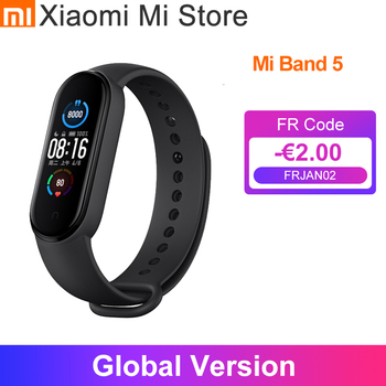 Global Version Xiaomi Mi Band 5 Wristband Touch Screen Smart Bracelet Fitness Track Heart Rate Monitor Band