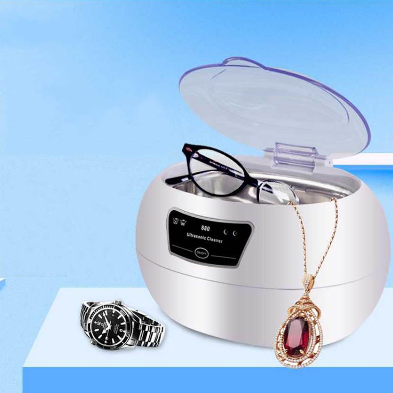 600ml Ultrasonic Cleaner sterilizer Jewelry Dental Watch Glasses Toothbrushes Cleaning Tool Ultrasonic Washing Machine cleaning