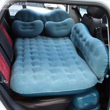 Viagem de carro colchão inflável para dormir ao ar livre sofá cama do carro acampamento acessórios para carro ar fosco almofadas cama almofada