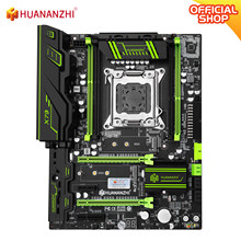 Huananzhi x79 verde 2.49 x79 placa-mãe lga2011 atx usb3.0 sata3 pci-e nvme m.2 ssd suporte reg memória ecc e xeon e5